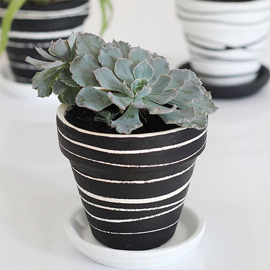 Clay pot painting trick craft gawker bloglovin for Design patterns for pot painting