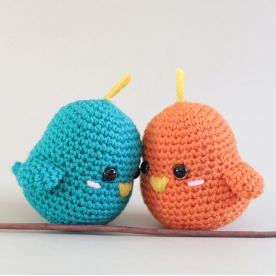 Amigurumi Crochet For Beginners : Crochet Amigurumi Lovebirds Craftbnb