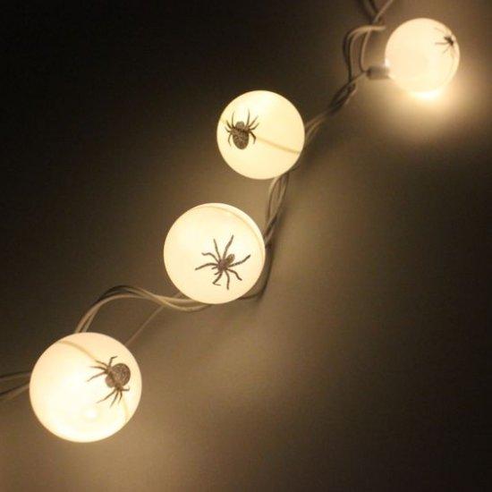 diy spider halloween lights - Halloween Ping Pong Balls