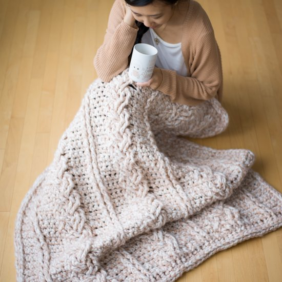 Chunky Braided Cabled Blanket Craftgawker