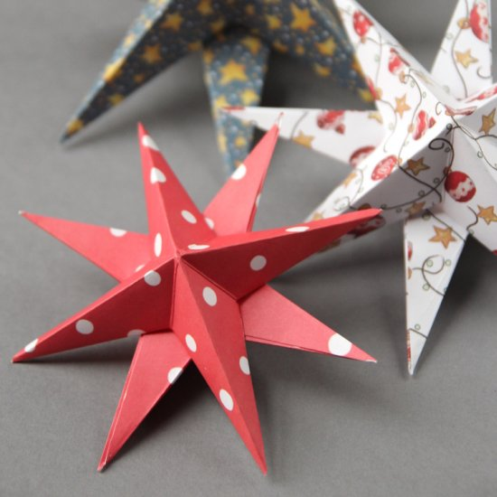 Diy 3d paper stars craft gawker bloglovin for 3d paper star decoration