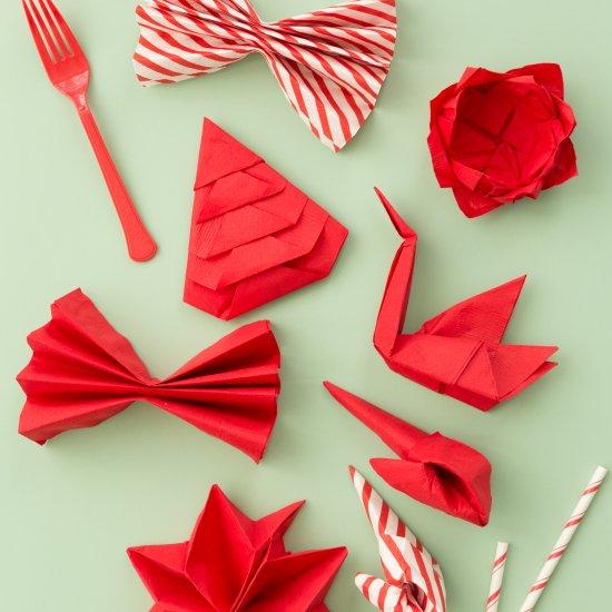 Christmas Napkin Folding.Christmas Napkin Folding Ideas Craftgawker