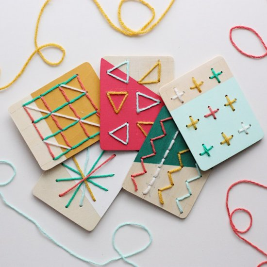 DIY Stitching Boards for Kids