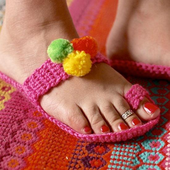 Colorful Kolahpuri Style Slippers