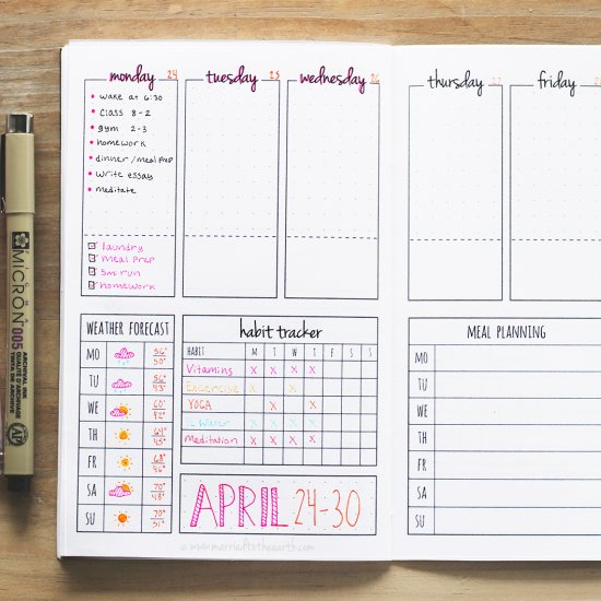 image about Printable Bullet Journal identify printable bullet magazine weekly craftgawker