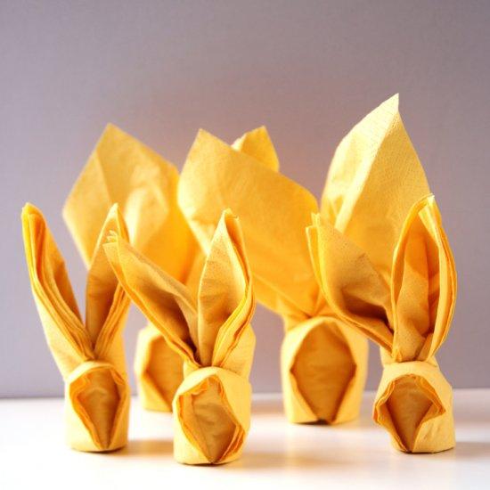 Paper Napkin Origami Bunny