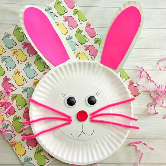 ... Cute Bunny Paper Plate Craft : paper plate bunny - pezcame.com