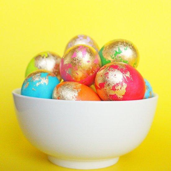 DIY Gold Flake Eggs