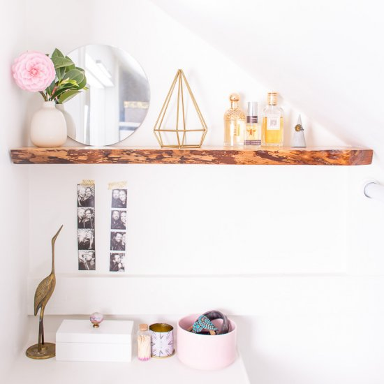 Hang Floating Solid Wood Shelves