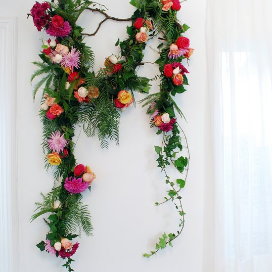 Fresh flower garland