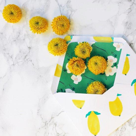 DIY Lemon Print Mother's Day Card