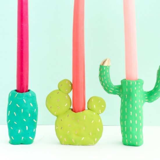 Cactus Candle Holder DIY