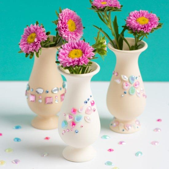 Jewel Decorated Mini Vases