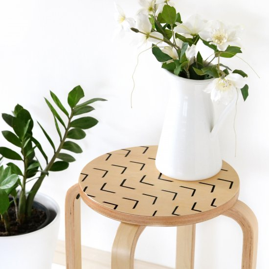 Easy mudcloth side table makeover