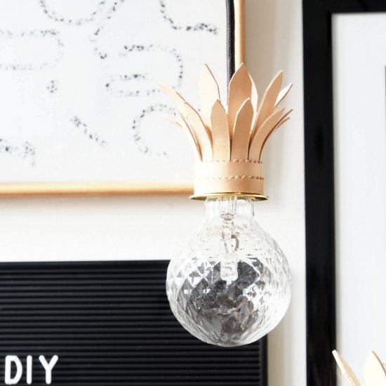 DIY Tropical Pendant Light