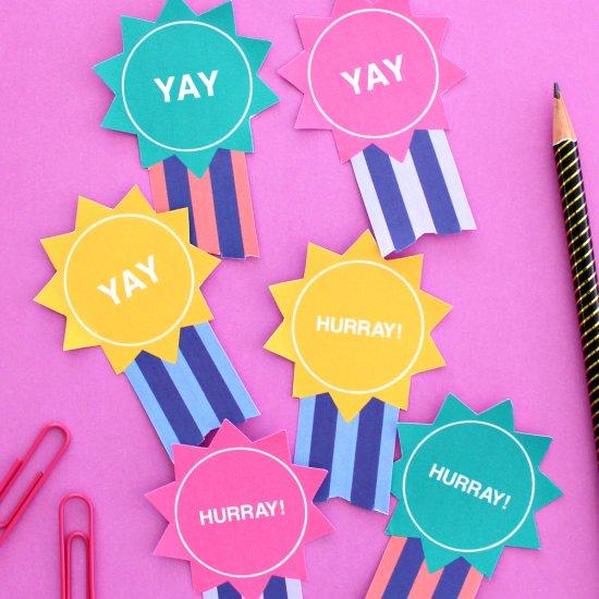 Printable Kids Grad Badges