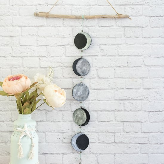 DIY Phases of the Moon Mobile