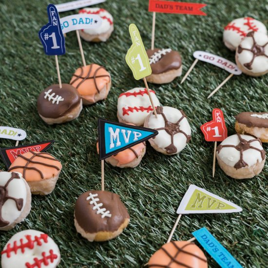Turn your donuts into sports balls