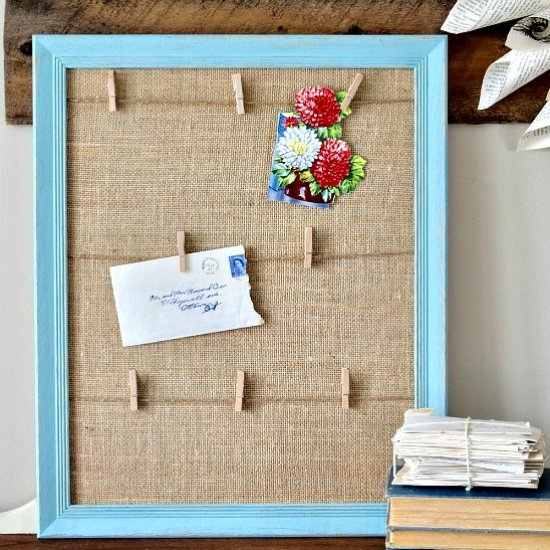 Turn an Old Frame into a Memo Board