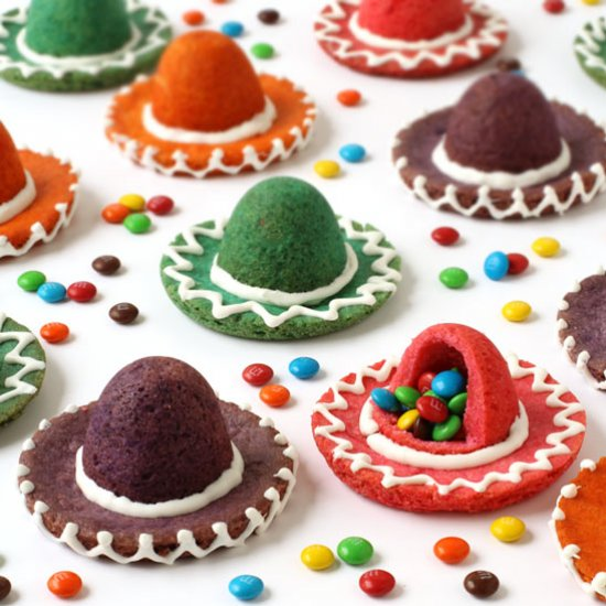 Candy Filled Sombrero Cookies