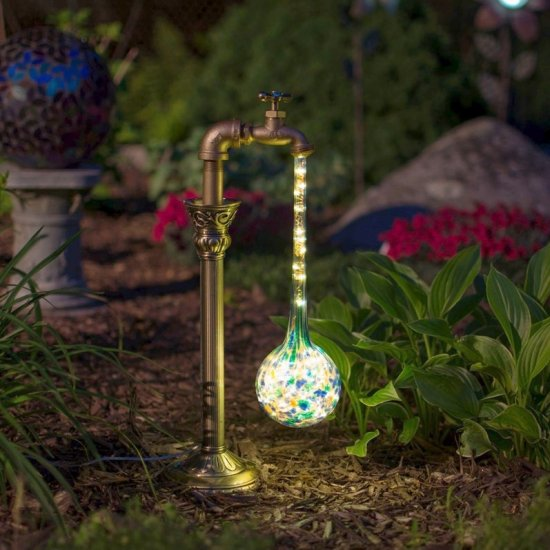 DIY Waterdrop Solar Lights