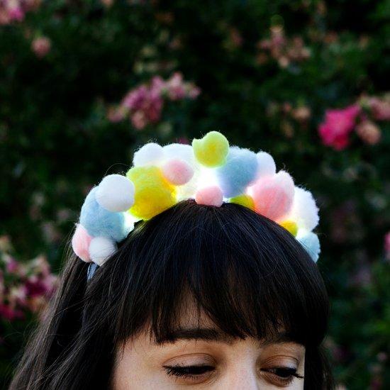 DIY LED Pom-Pom Headband