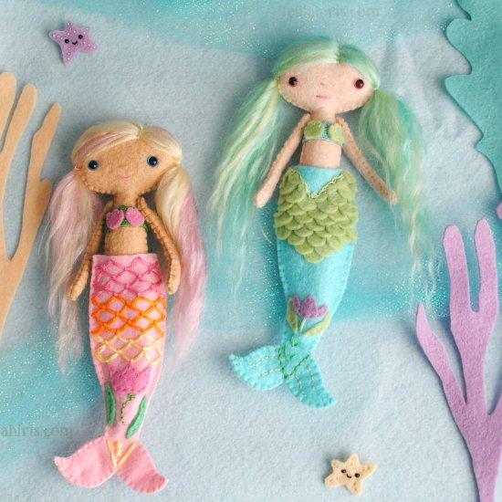 Handmade Doll Mermaid Tails Pattern