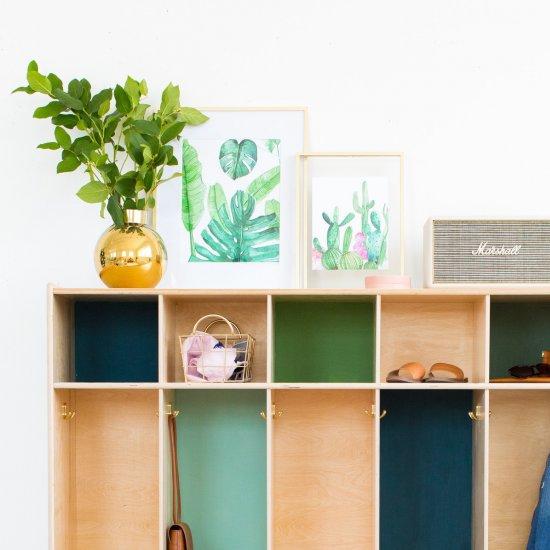 DIY Color Block Storage Lockers