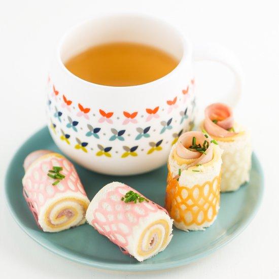 Lacy Tea Sandwich Spirals