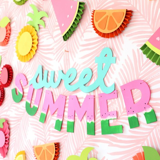 DIY Chipboard Letters for Summer