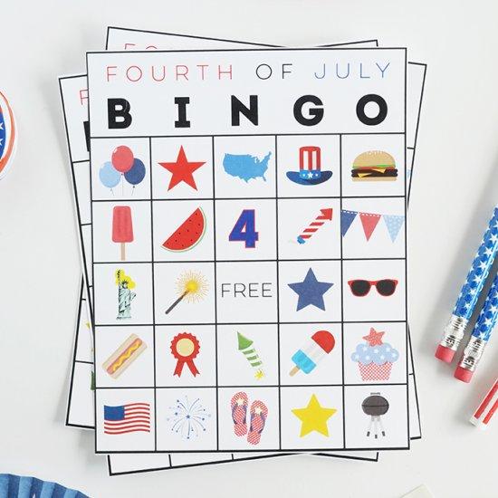 Free Printable Fourth of July Bingo