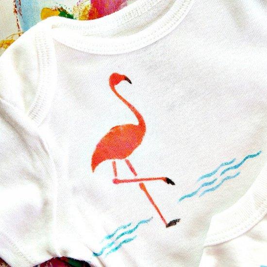 Pink Flamingo Stencil Fun