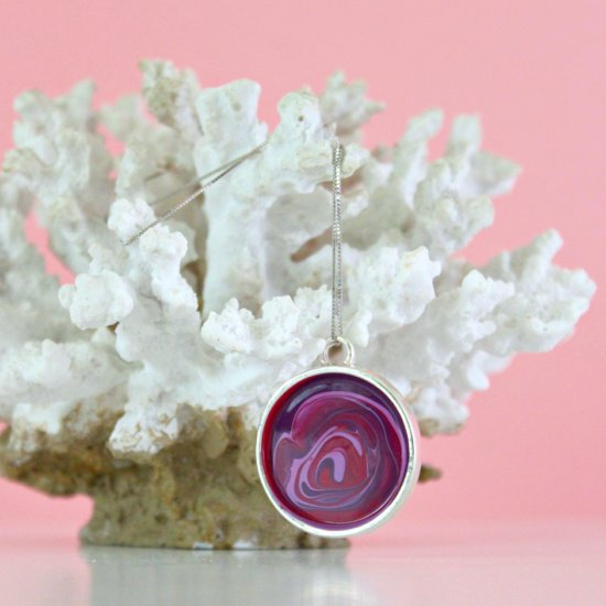 DIY Pendant with Nail Polish