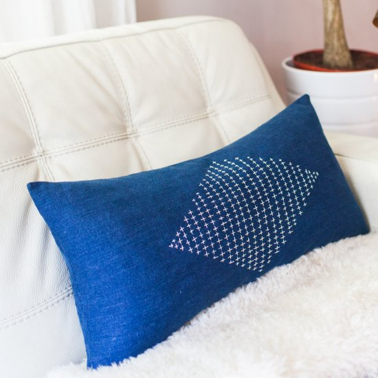 Embroidered Pillow DIY