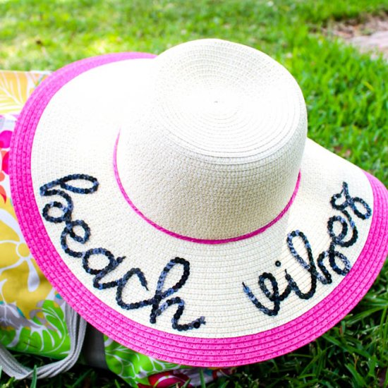 Hand Lettered Sun Hat