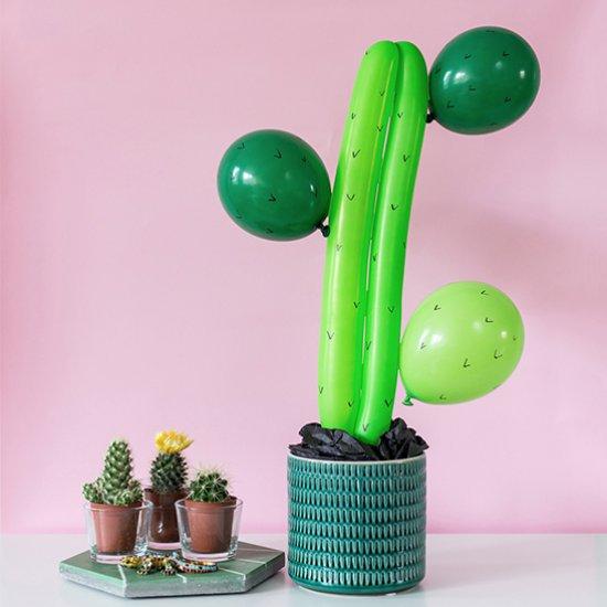 DIY Balloon cactus