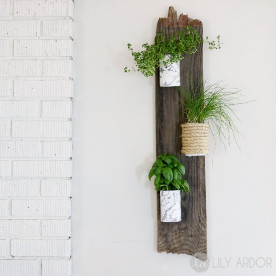 Tin can Herb wall