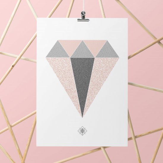 Geometric Diamond Free Printable
