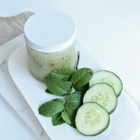 Refreshing Cucumber Mint Body Scrub
