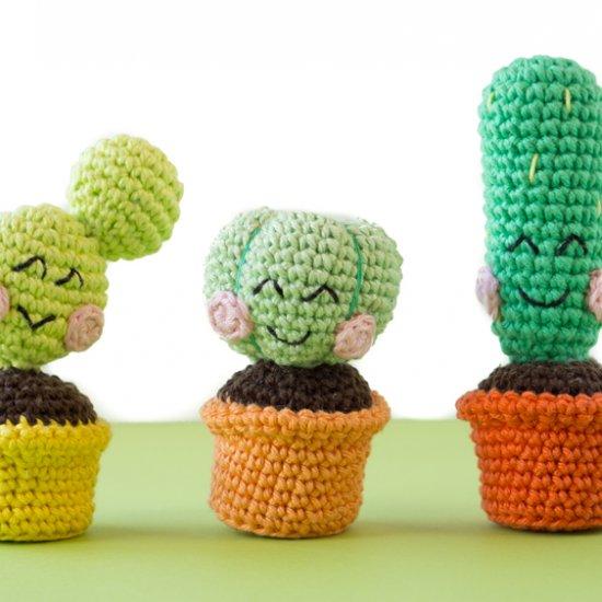 How to Make Amigurumi Crochet Kawaii Cactus | Crochet patterns ... | 550x550