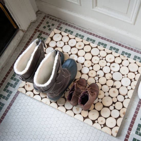 DIY Wood Boot Tray / Welcome Mat