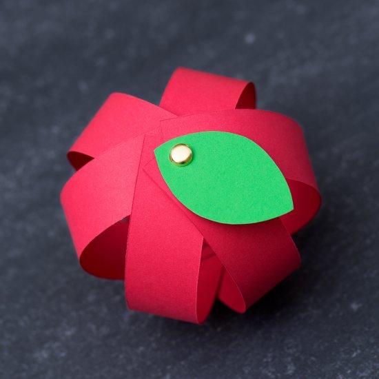 Easy Paper Strip Apple Craft Craftgawker