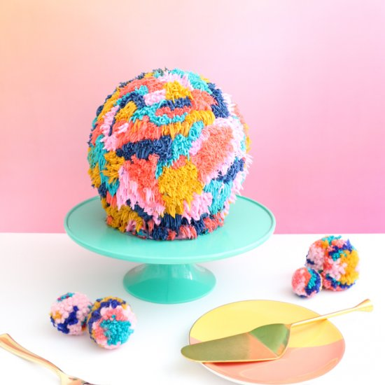 Giant Pom Pom Cake