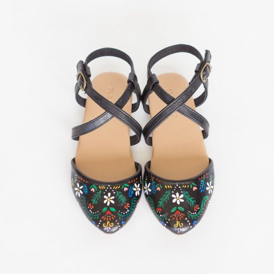 Folk Art Inspired Painted Shoes