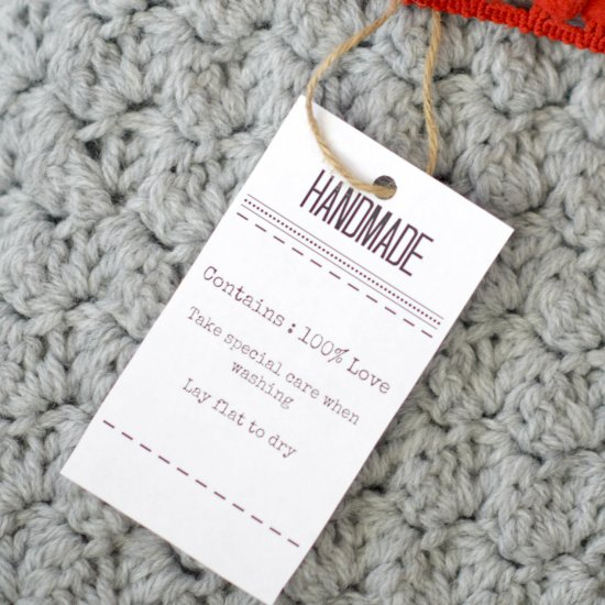 Labels and Care Tags for Gifts