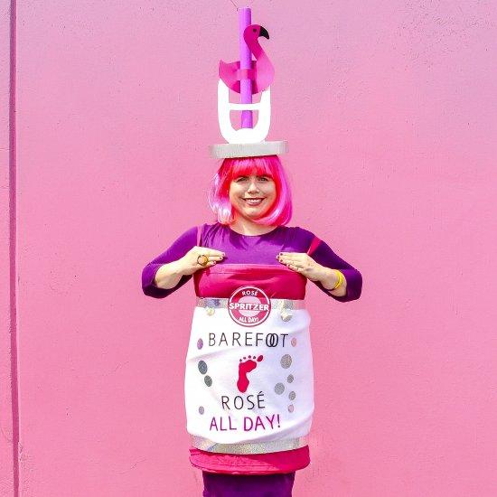 DIY ROSÉ Drink Can Costume!