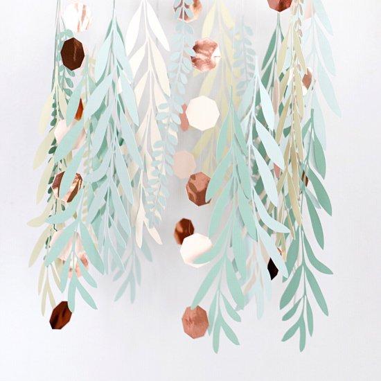 Paper Leaves Chandelier