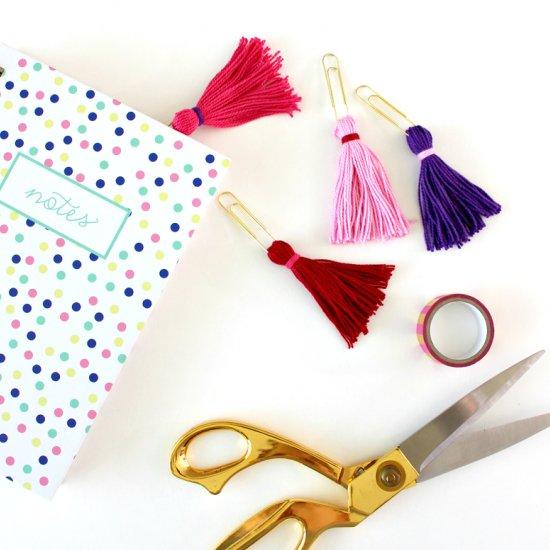 DIY Tassel Paper Clips