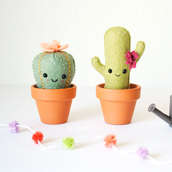 Felt Cactus Sewing Pattern