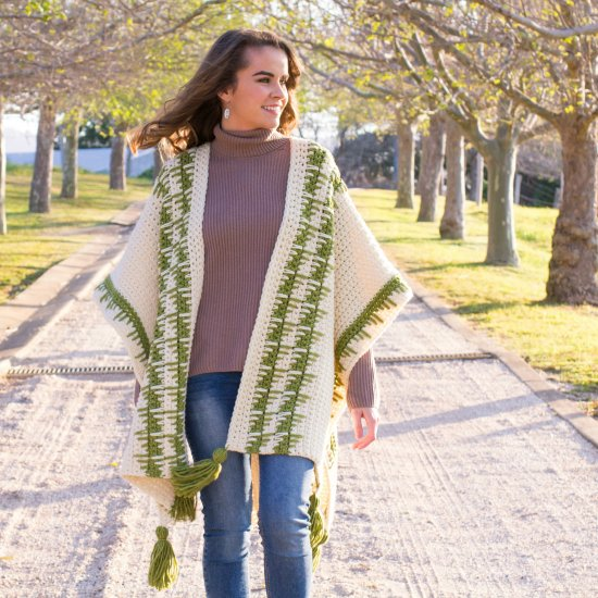 The Olivine Ruana Crochet Pattern Craftgawker Extraordinary Crochet Ruana Pattern